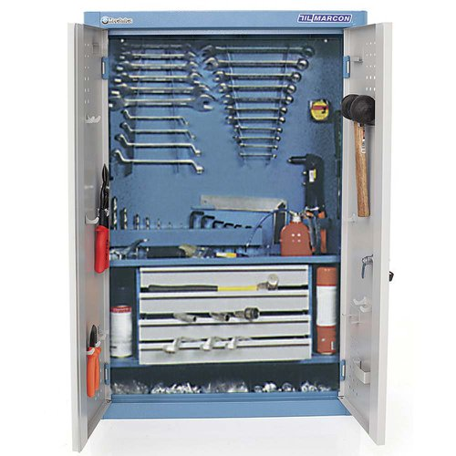 armário de parede para ferramentas com 4 gavetas