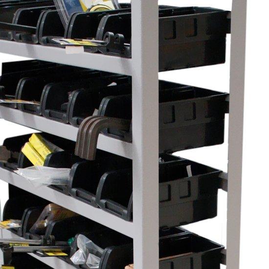 Estante Porta-Componentes com 60 Caixas Pretas N° 3 - Imagem zoom