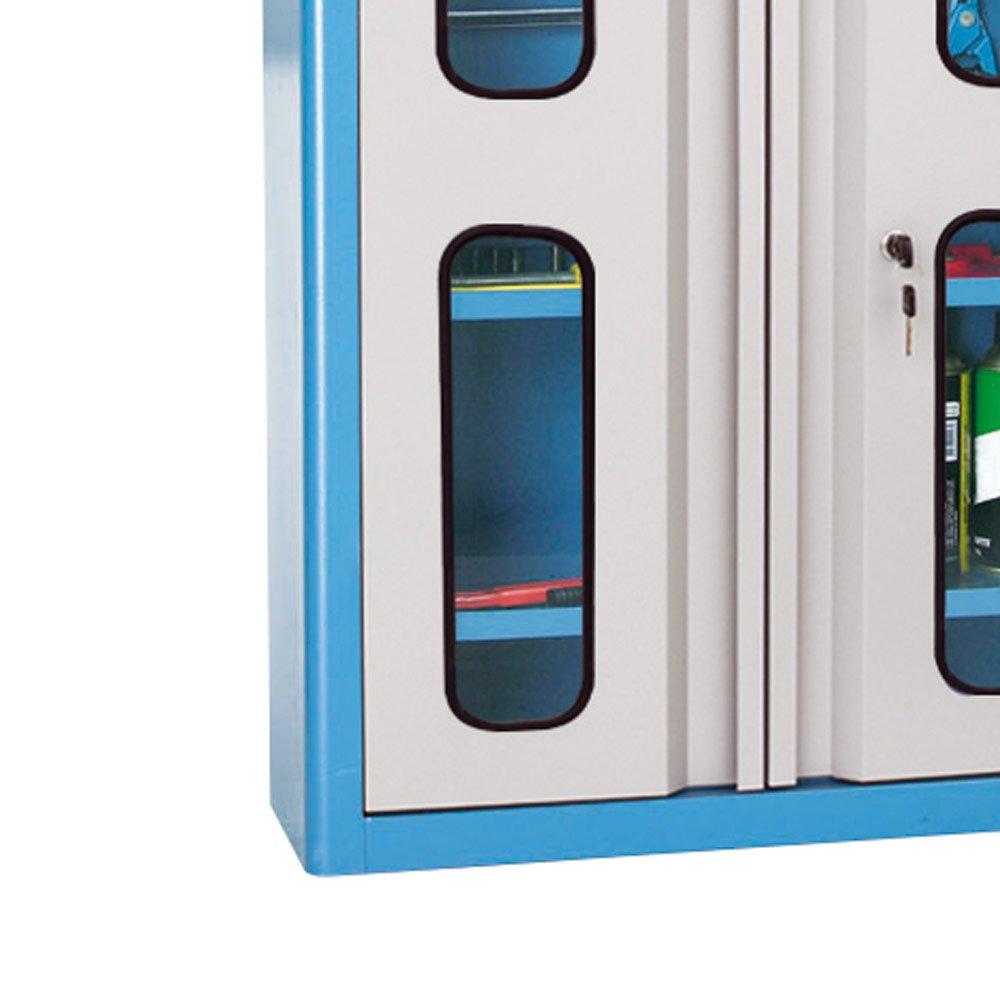 Armário de Parede para Ferramentas com Visor de Vidro e Prateleiras - Imagem zoom