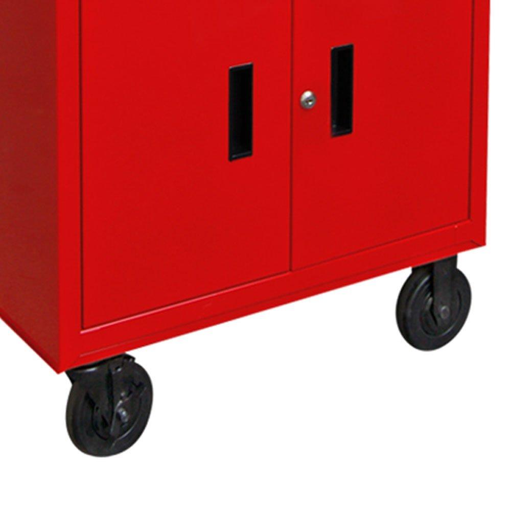 Carro para Manutenção Vermelho com 3 Gavetas - Imagem zoom