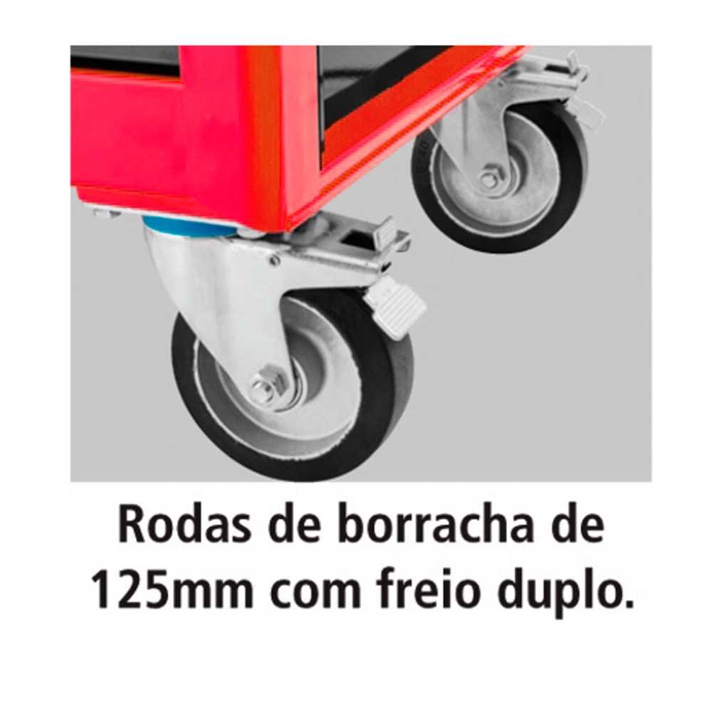 Carro para Ferramentas com 8 Gavetas Vermelho - Imagem zoom