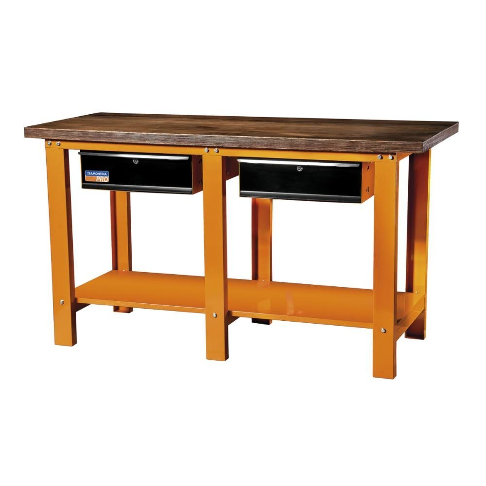 Bancada laranja 1400 kg  900 x 650 mm 2 gavetas - Imagem zoom