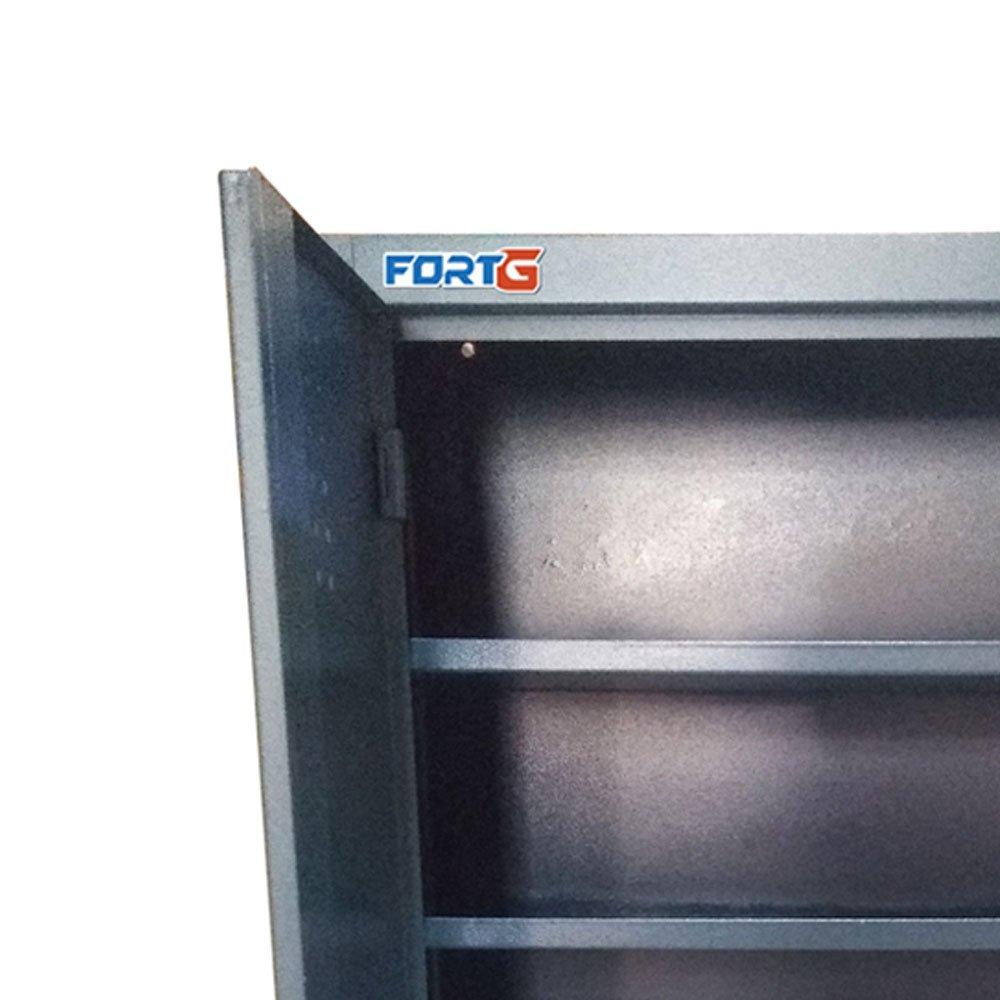Armário de Parede em Aço com 4 Prateleiras para Ferramentas  - Imagem zoom