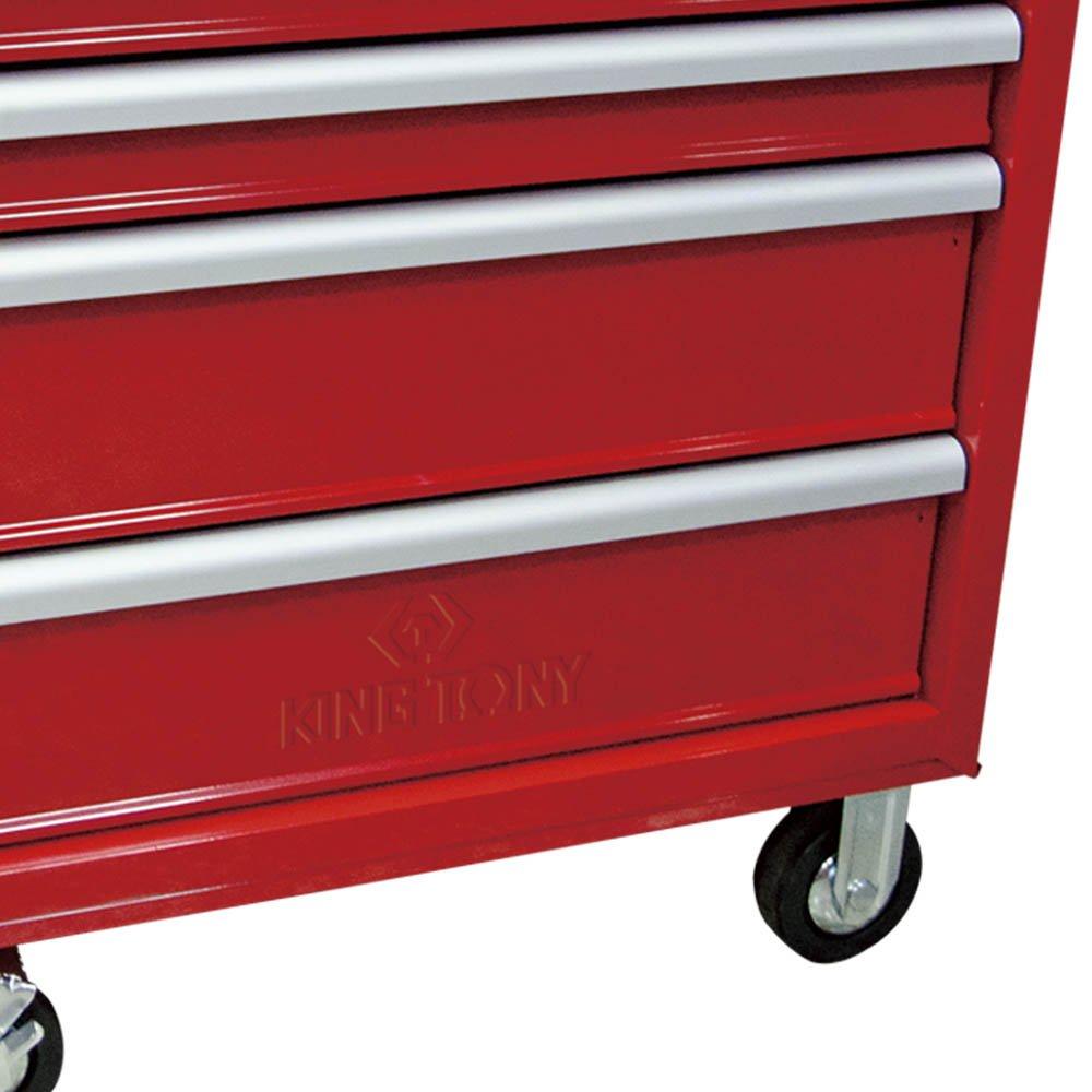 Mini Carrinho Metálico Vermelho com 5 Gavetas  - Imagem zoom