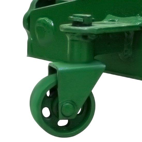 Macaco Hidráulico 2 Toneladas tipo Jacaré Compacto Roda de Ferro - Imagem zoom