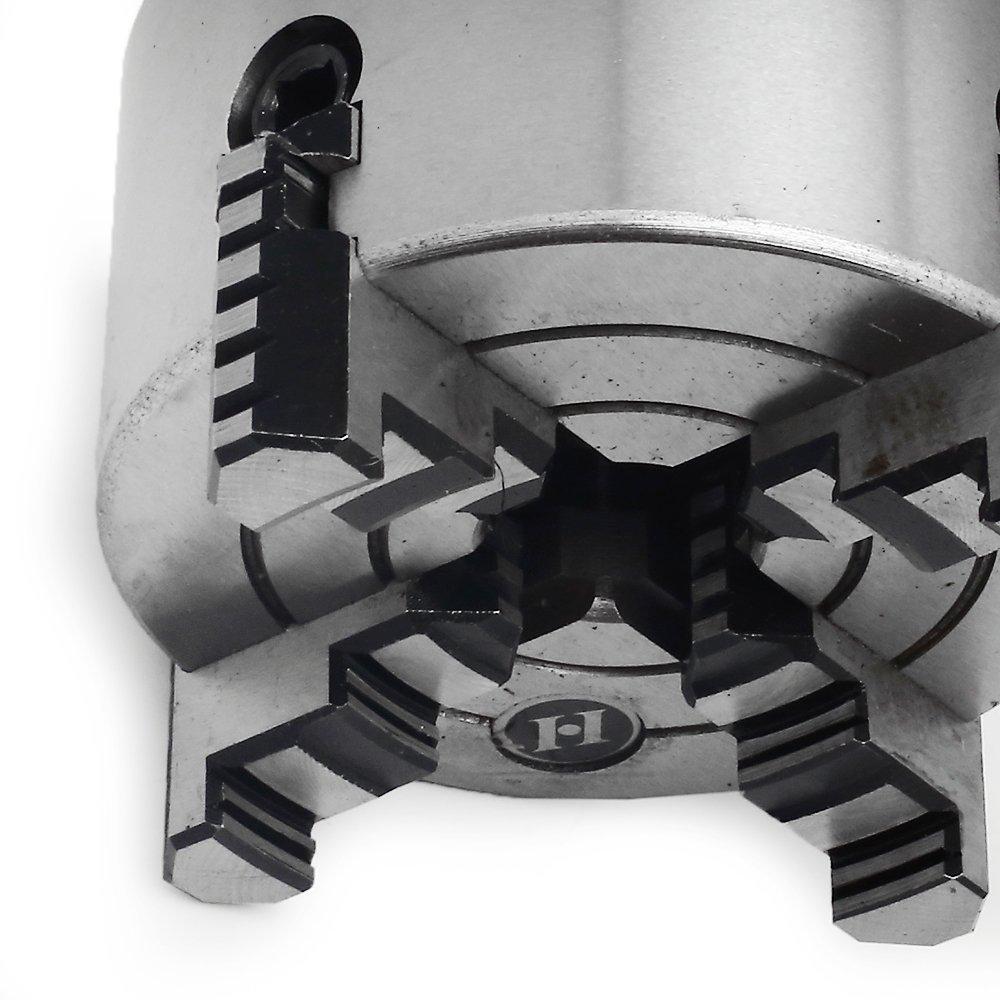 Placa / Mandril 100mm 4 Castanhas para Torno Mecânico - Imagem zoom