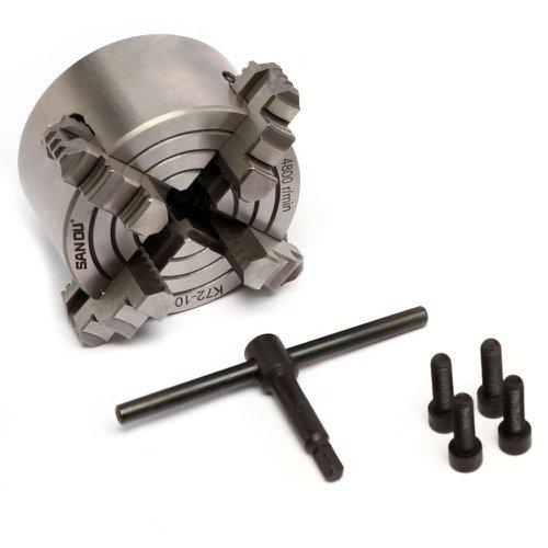 placa / mandril 4 castanhas 100mm para mini torno mecânico