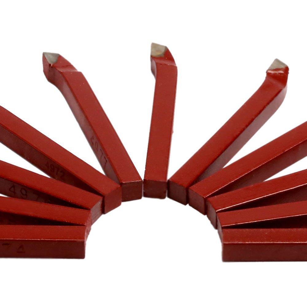 Jogo 11 Peças Ferramentas de Corte em Metal Duro 8 x 8mm para Torno - Imagem zoom