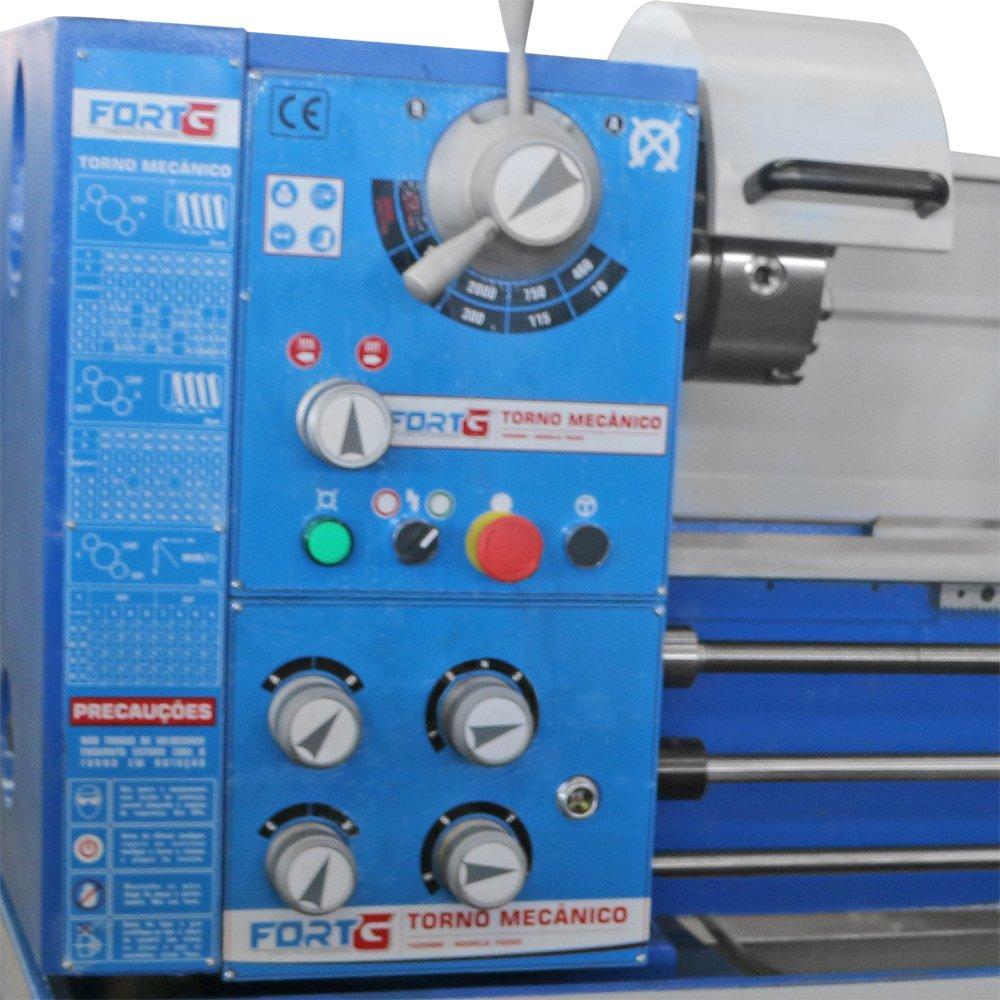 Torno Mecânico Industrial Monofásico 1500W 360 x 1000 mm 220V - Imagem zoom