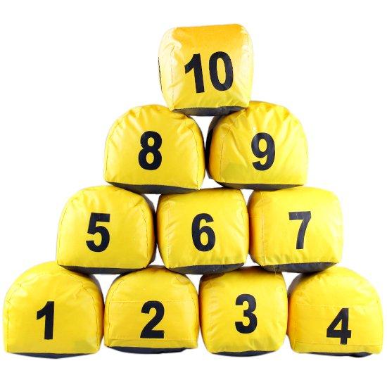 Jogo de Prismas do Número 1 a 10 Amarelo - Imagem zoom