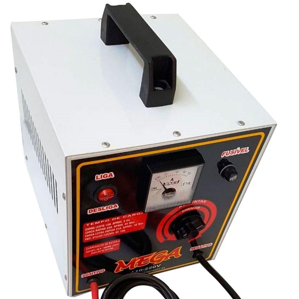 Carregador de Bateria Profissional 12V 50A com Auxiliar de Partida - Imagem zoom