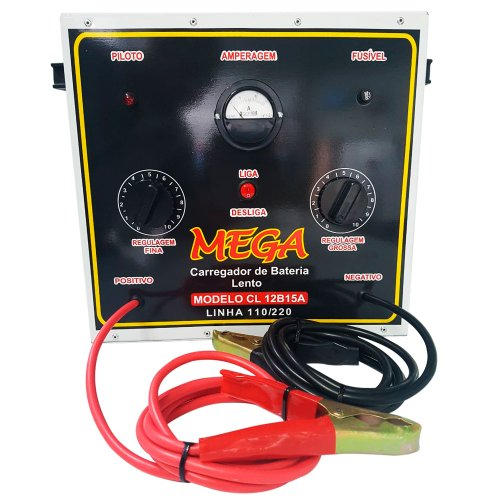 carregador de baterias portátil de cargas lentas 15a 110/220v
