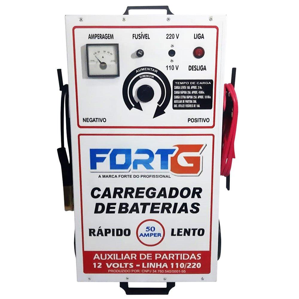 Carregador de Bateria 50A 110/220V com Auxiliar de Partidas - Imagem zoom