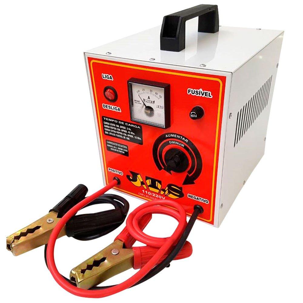 Carregador de Bateria Portátil 50A Bivolt com Auxiliar de Partida - Imagem zoom