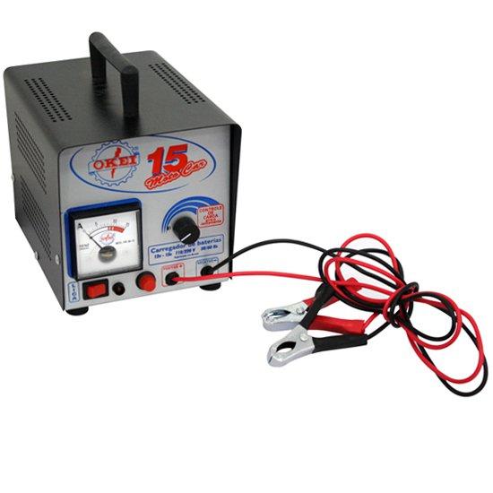 Carregador de Bateria 15A Moto Car - Imagem zoom