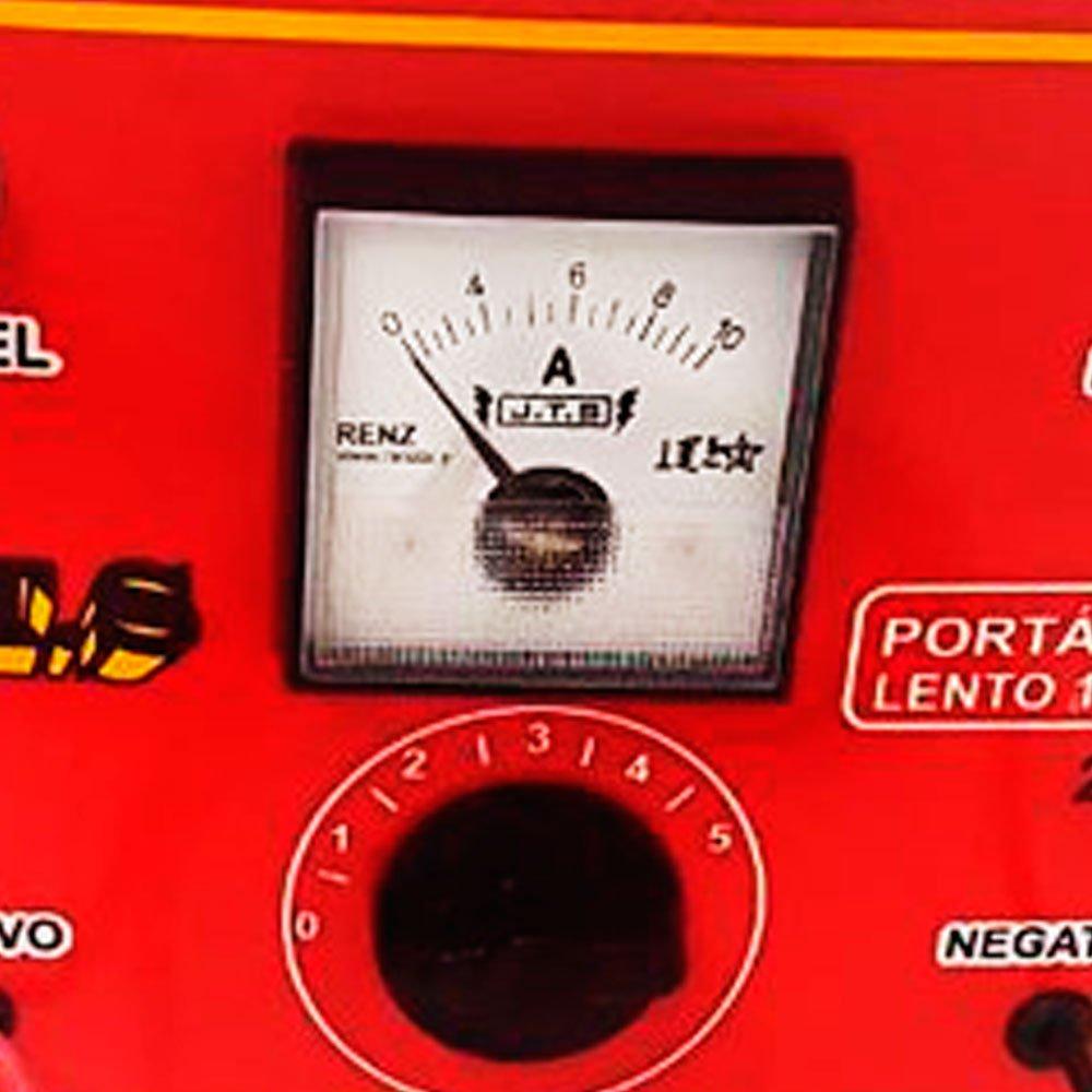 Carregador de Bateria Portátil 10A 12V/24V com Relógio e Seletor - Imagem zoom