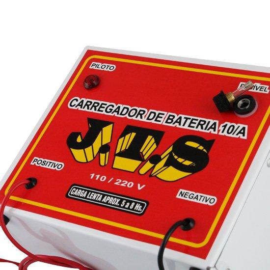 Carregador de Bateria 10A 12/24V Portátil - Imagem zoom