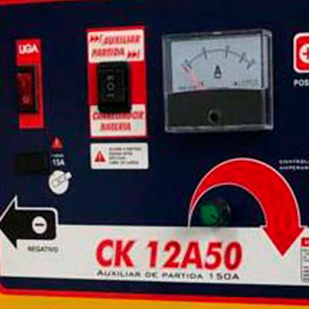 Carregador de Bateria 15V 50A com  Auxiliar de Partida 70A/h - Imagem zoom