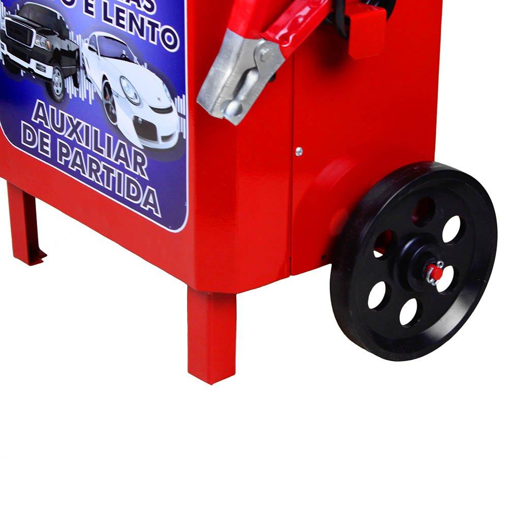 Carregador de Baterias Rápido e Lento + Auxilar de Partida com Carrinho 12V 50A - Imagem zoom
