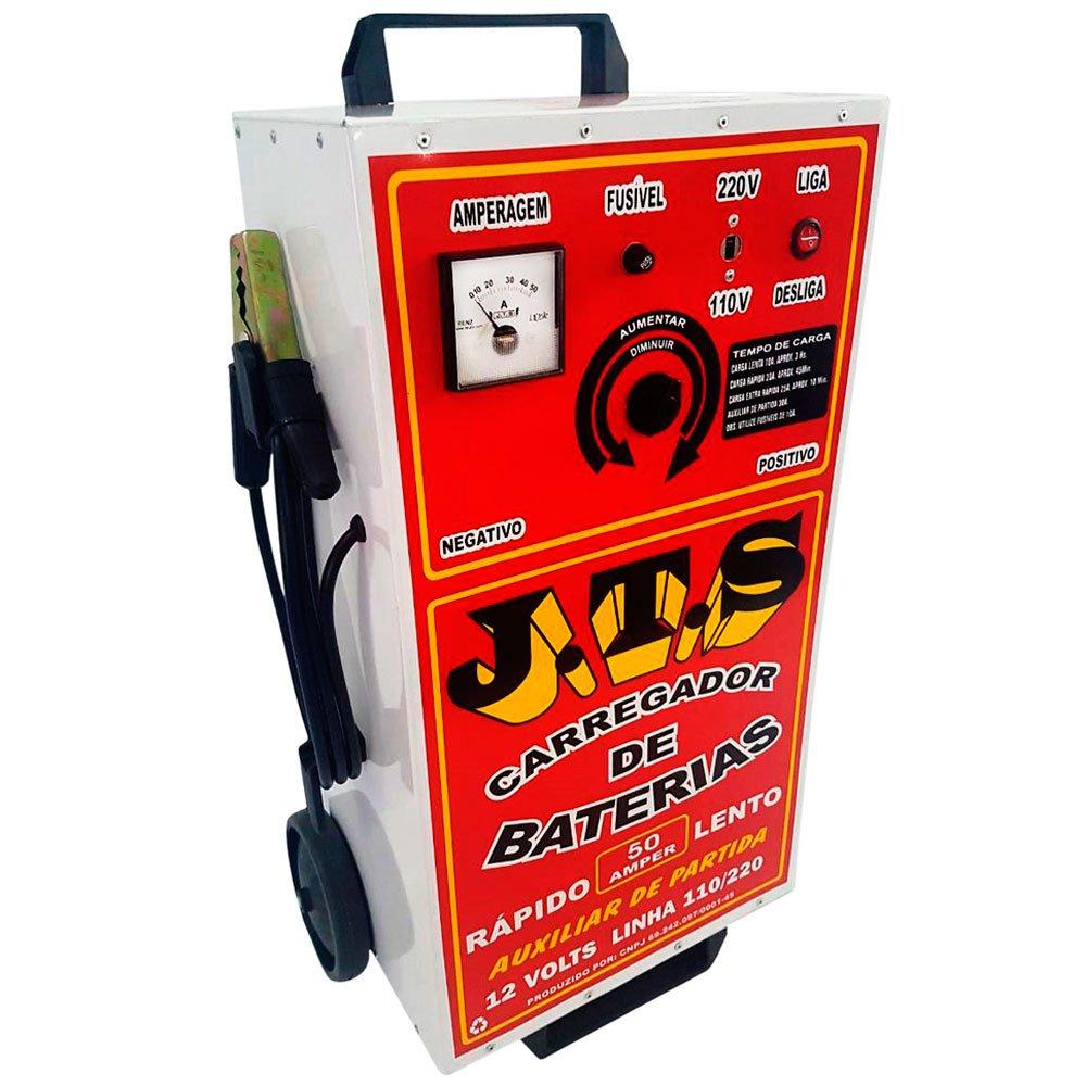 33ac37ef33b Carregador de Bateria Rápido/Lento 12V 50A com Auxiliar de Partida - Imagem  zoom