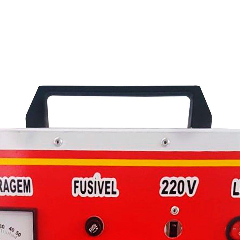 Carregador de Bateria Rápido/Lento 12V 50A com Auxiliar de Partida - Imagem zoom