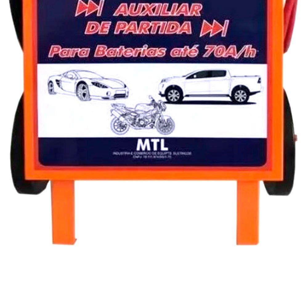 Carregador de Baterias Rápido e Lento 12V 50A com Auxilar de Partida MTL - Imagem zoom