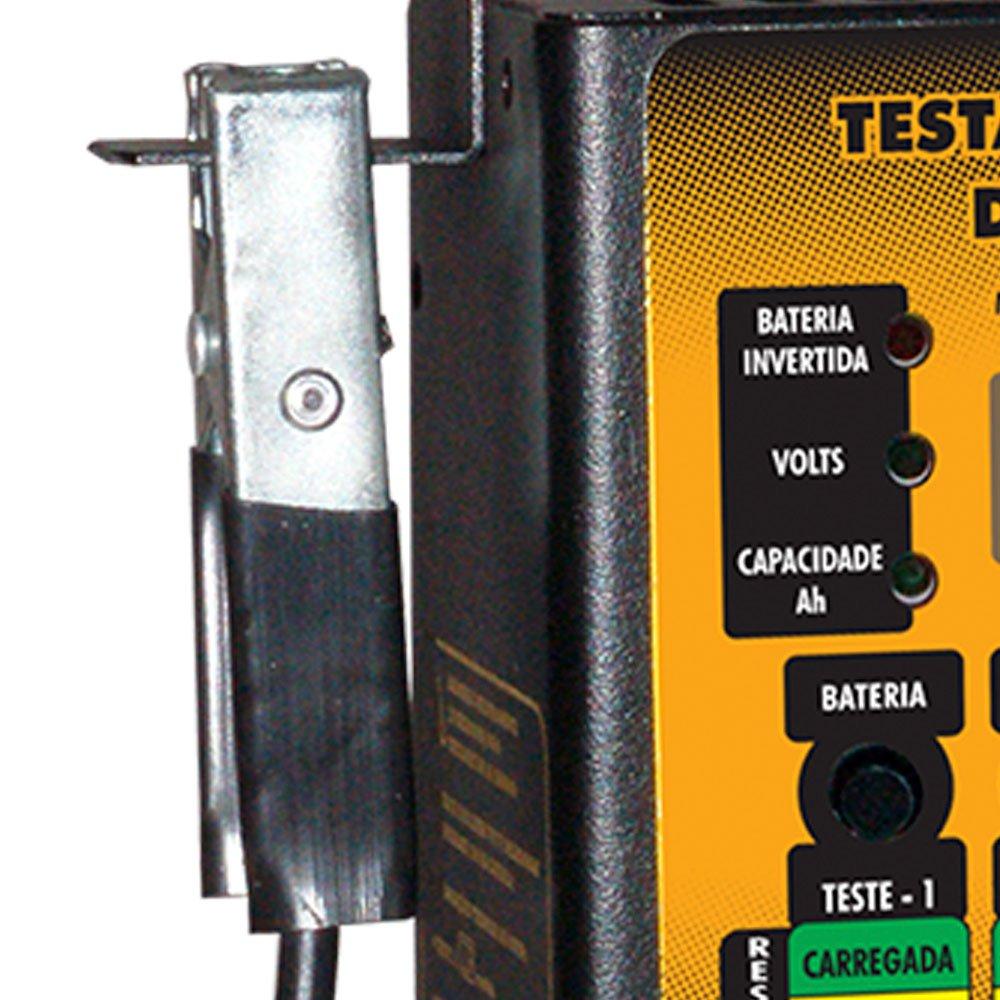 Testador Digital de Bateria 40A 12V Microprocessado e Automático - Imagem zoom