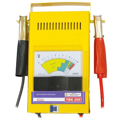 teste de bateria e sistema de carga 16v  150a/h