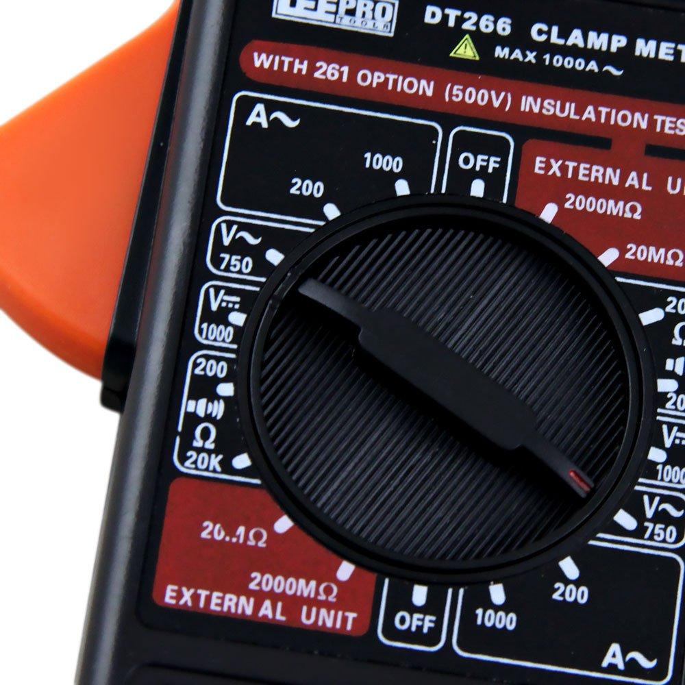 Alicate Amperímetro Digital Preto DT266 l - Imagem zoom