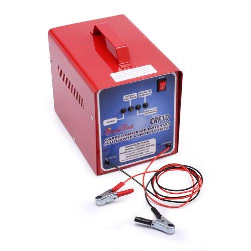 carregador de bateria automático flutuante 12/24v  10a com 4 leds