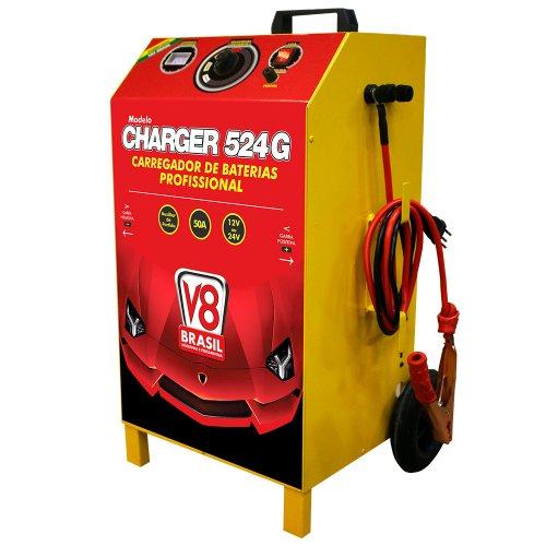 carregador de baterias charger 524g 50a 12/24v bivolt com auxiliar de partida