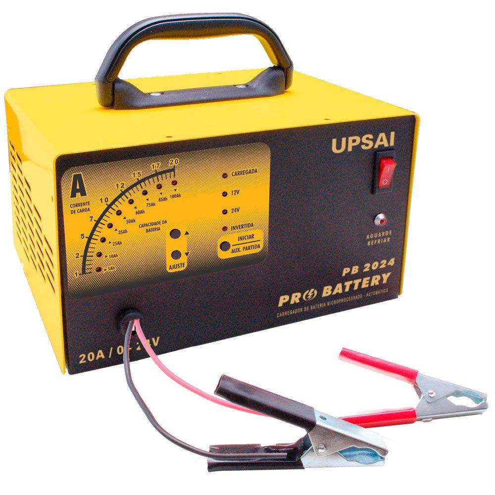 Carregador de Baterias Pró Battery 20A 0 a 24V Bivolt com Auxiliar de Partida  - Imagem zoom