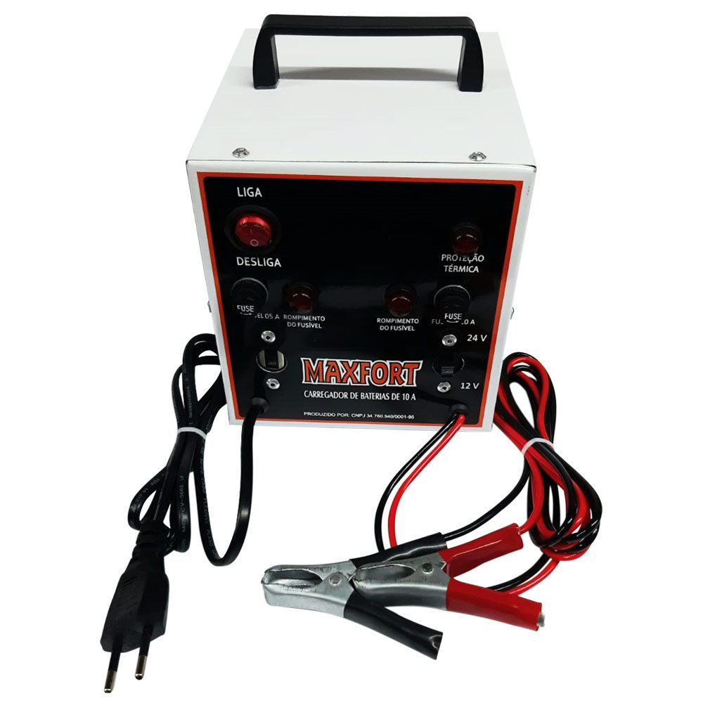 Carregador de Baterias Portátil 12/ 24V 10Ah Bivolt - Imagem zoom