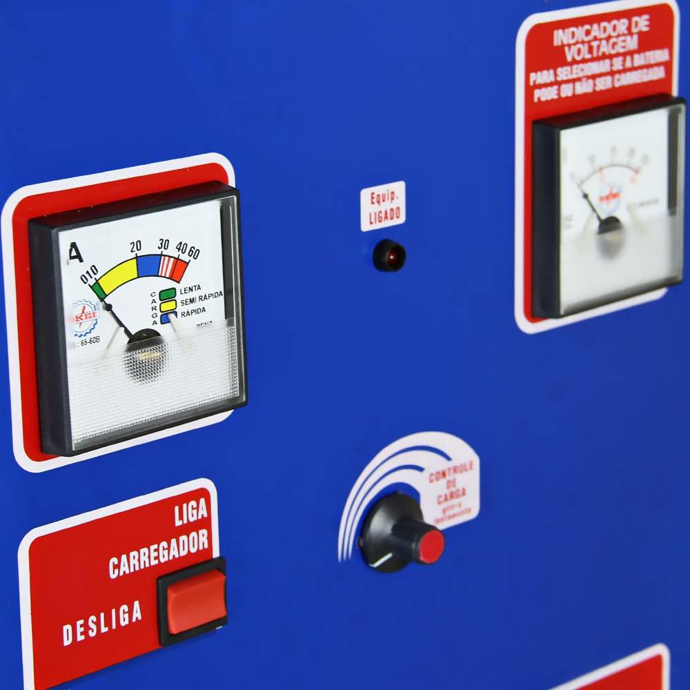 Carregador de Bateria Rápido e Lento 90Ah sem Auxiliar de Partida Bivolt - Imagem zoom