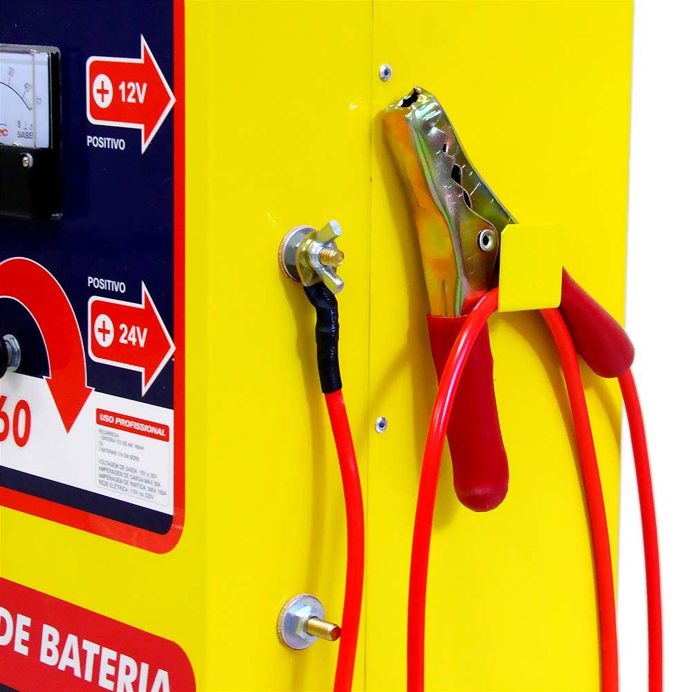 Carregador de Baterias 12/24V e Auxiliar de Partida 70A/h - Imagem zoom