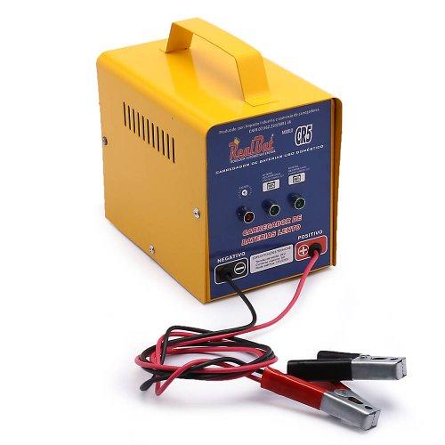 carregador de bateria automotiva 12v/24v 5a com auto seleção