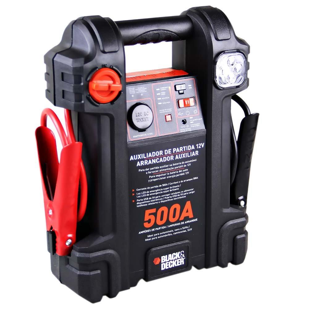 Auxiliar de Partida 500A 12V com Luz de Emergência - Imagem zoom