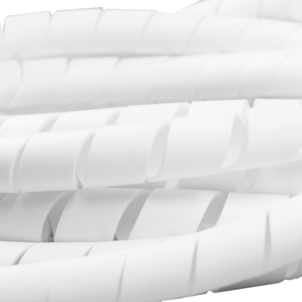 Tubo Espiral Branco - Organizador de Fios de 5 Metros com Diâmetro de 3/4 Pol. - Imagem zoom