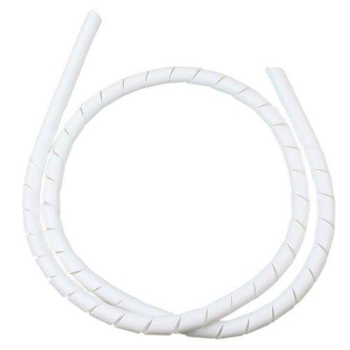 tubo espiral branco - organizador de fios de 1 metro com diâmetro de 1/2 pol.