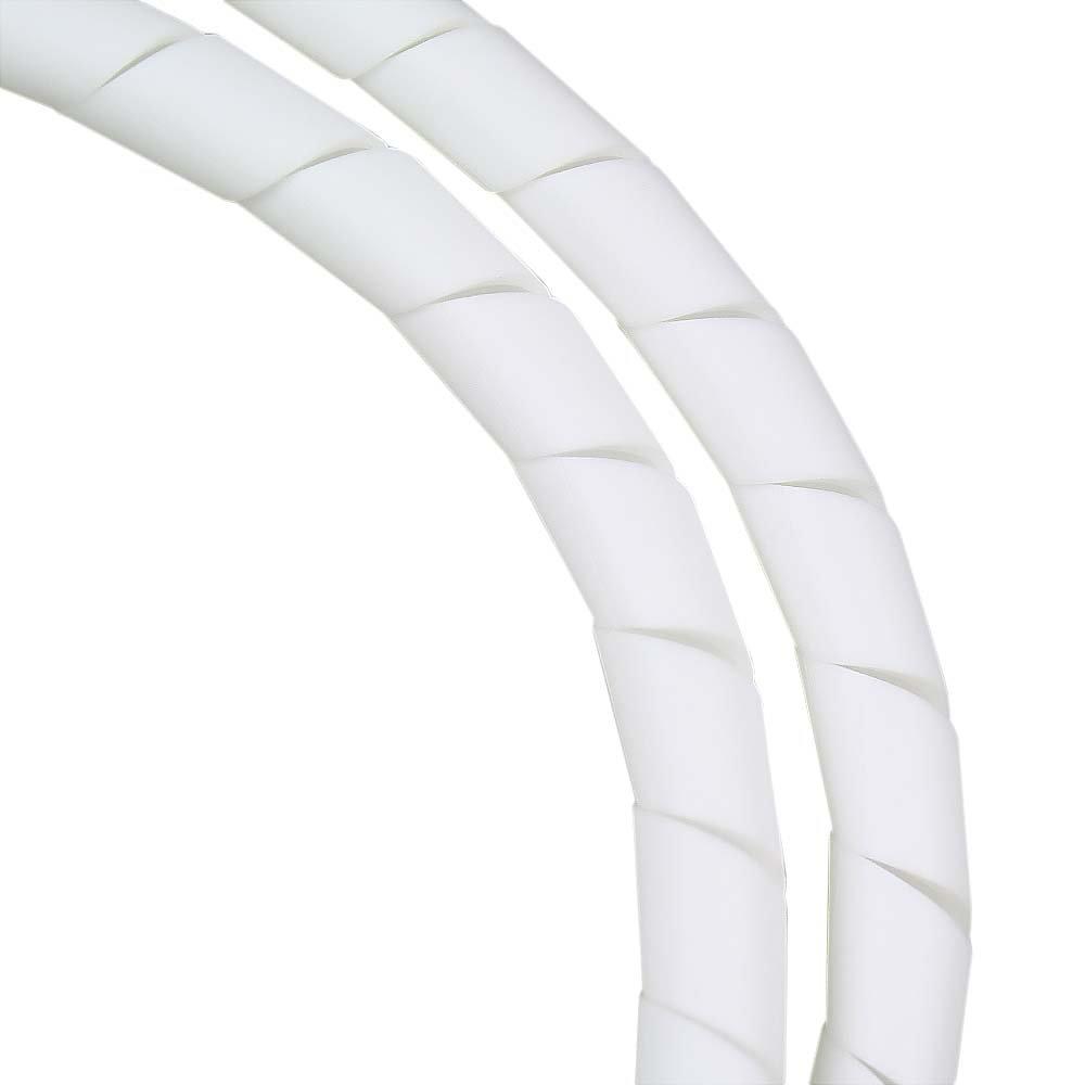 Tubo Espiral Branco - Organizador de Fios de 1 Metro com Diâmetro de 1/2 Pol. - Imagem zoom