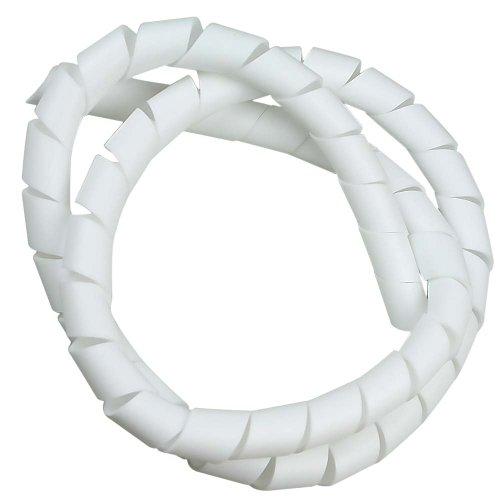 tubo espiral branco - organizador de fios de 1 metro com diâmetro de 3/4 pol.