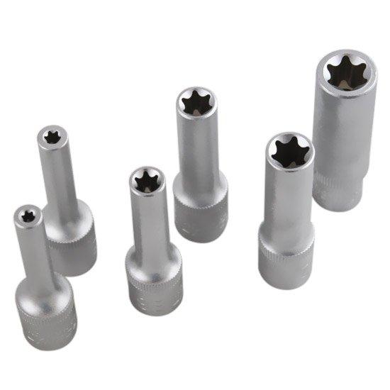 Jogo de Soquetes Longos Tork de 6 peças 3/8 Pol. - Imagem zoom