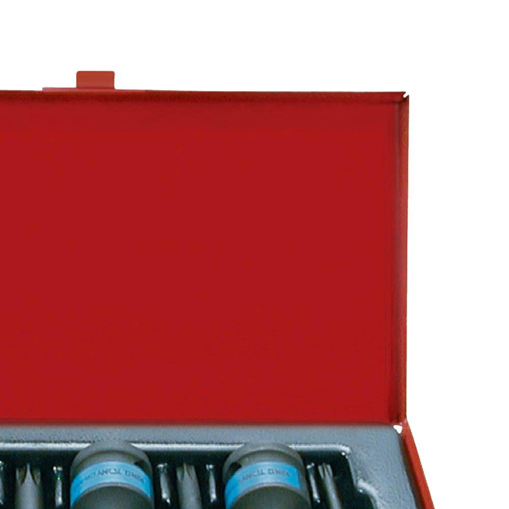 Jogo de Chave de Soquete Tork de Impacto com 07 Peças 1/2 Pol. - Imagem zoom