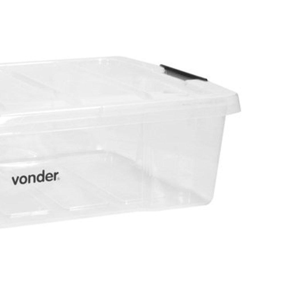 Caixa Baú Plástica Transparente para Ferramentas - Imagem zoom