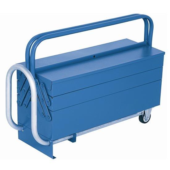 Caixa de ferramentas sanfonada móvel com rodas e 5 gavetas - Marcon - Imagem zoom