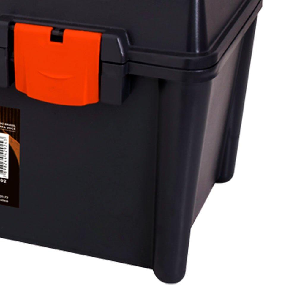 Caixa Plástica para Ferramentas 510 x 240mm com Bandeja e Estojo - Imagem zoom
