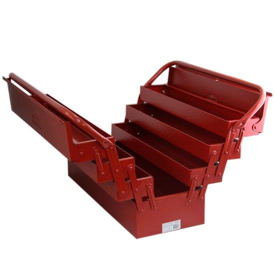 Caixa de Ferramentas Sanfonada 7 Gavetas Vermelha - Imagem zoom