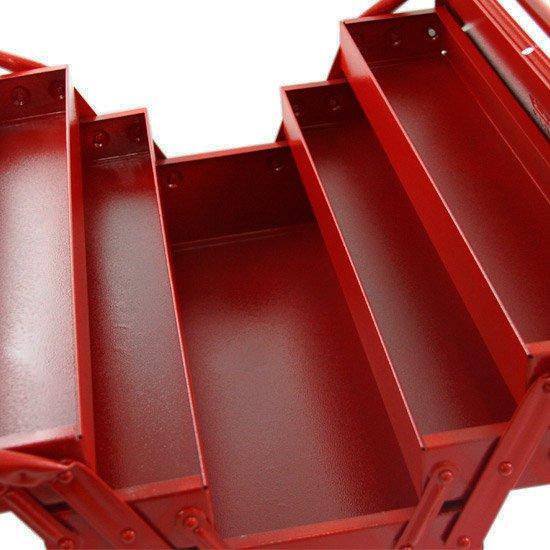Caixa de Ferramentas Sanfonada 5 Gavetas Vermelha - Imagem zoom