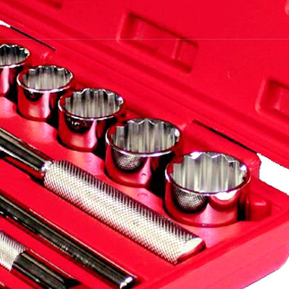 Jogo de Soquetes Estriados 1/2 Pol. 8 a 32 mm e Acessórios com 22 Peças - Imagem zoom