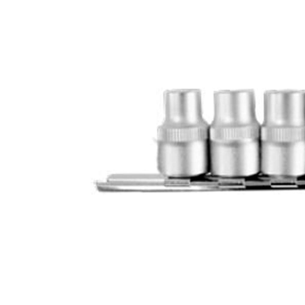 Jogo de Soquetes Estriados Encaixe de 3/8 Pol. com 12 Peças 8 a 19mm - Imagem zoom
